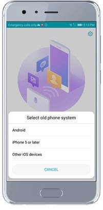 Use the phone clone to transfer data